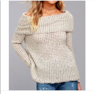 Bb Dakota off the shoulder sweater medium teagan